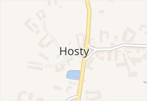 Hosty v obci Hosty - mapa části obce