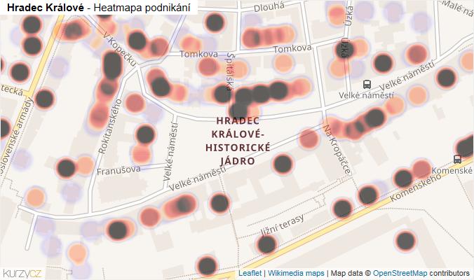 Mapa Hradec Králové - Firmy v části obce.