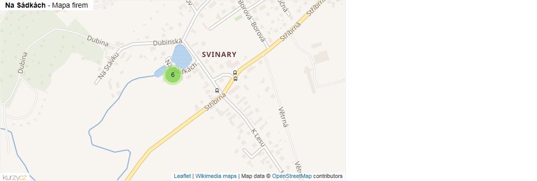 Mapa Na Sádkách - Firmy v ulici.