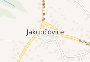 Jakubčovice v obci Hradec nad Moravicí - mapa části obce