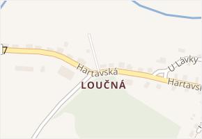 Loučná v obci Hrádek nad Nisou - mapa části obce