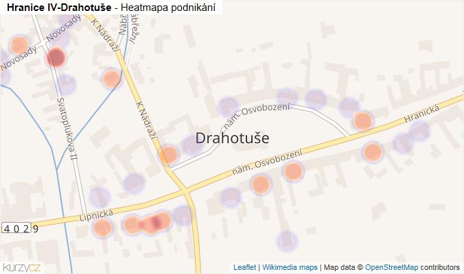 Mapa Hranice IV-Drahotuše - Firmy v části obce.