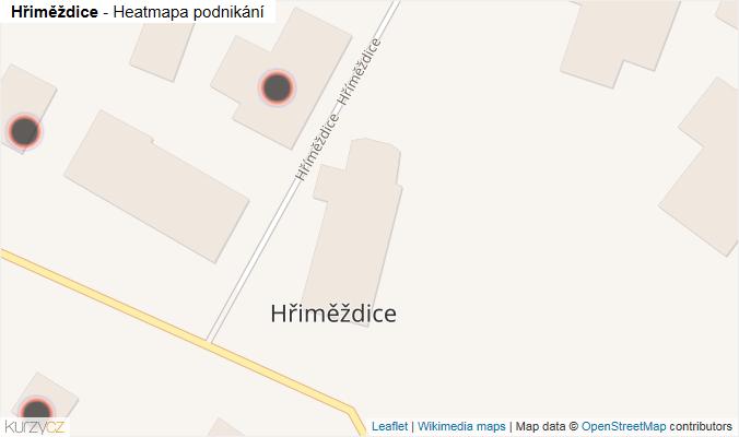Mapa Hřiměždice - Firmy v obci.