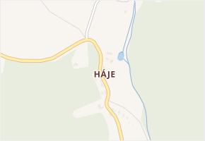 Háje v obci Hřiměždice - mapa části obce