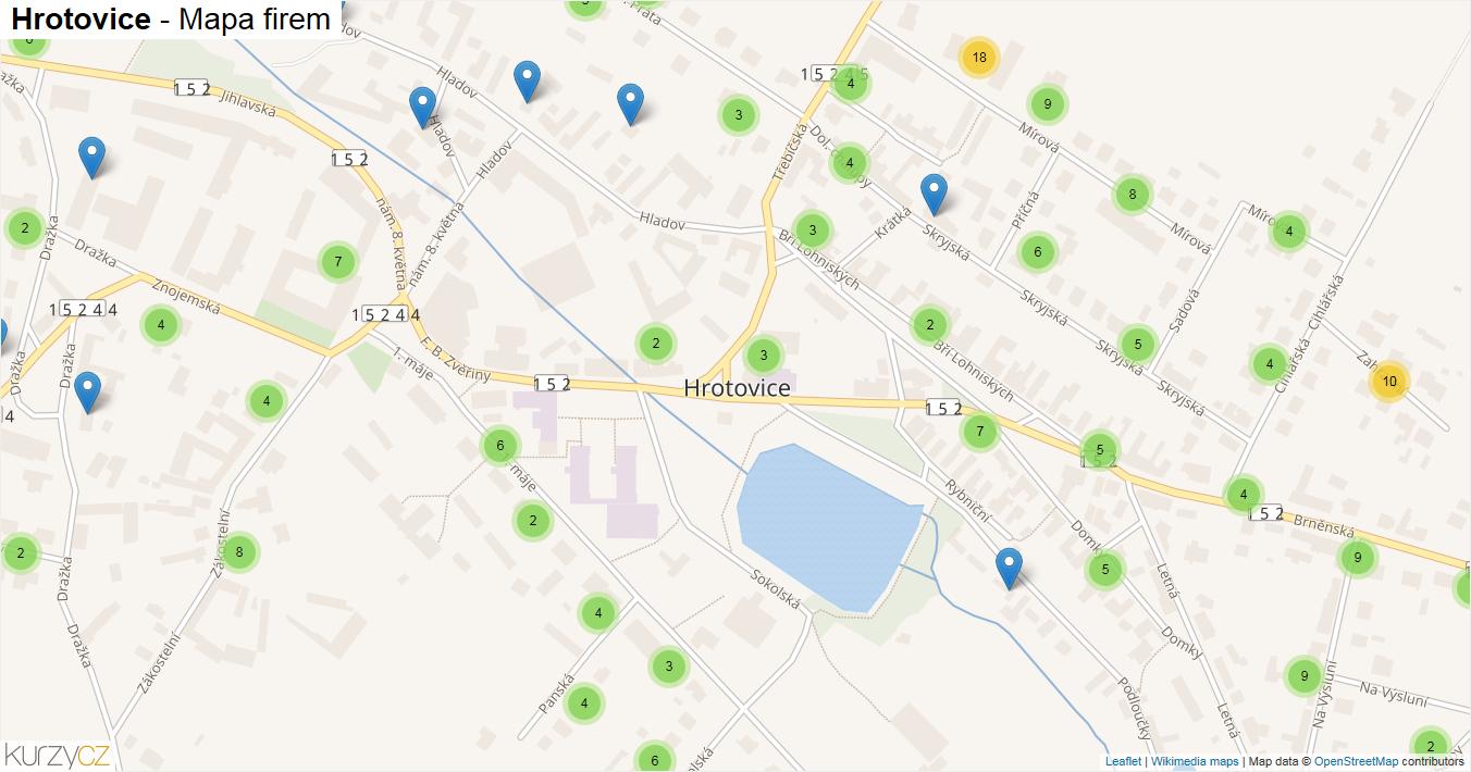 Hrotovice - mapa firem