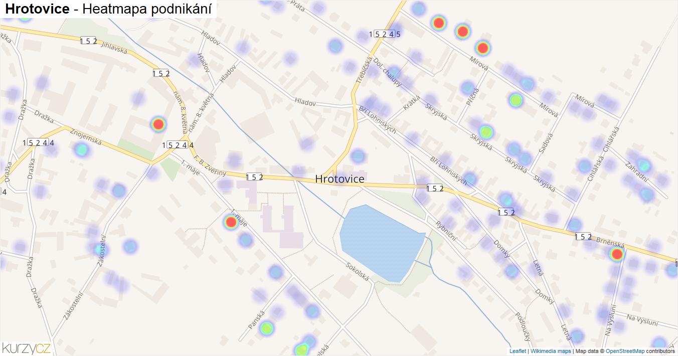 Hrotovice - mapa podnikání