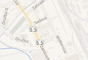 Sadová v obci Hulín - mapa ulice