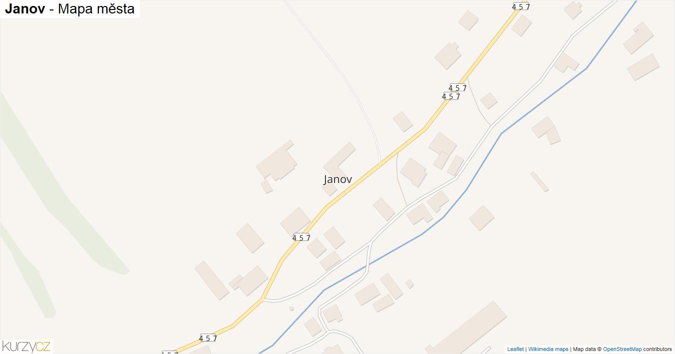 Janov - mapa města