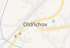 Oldřichov v obci Jeníkov - mapa části obce