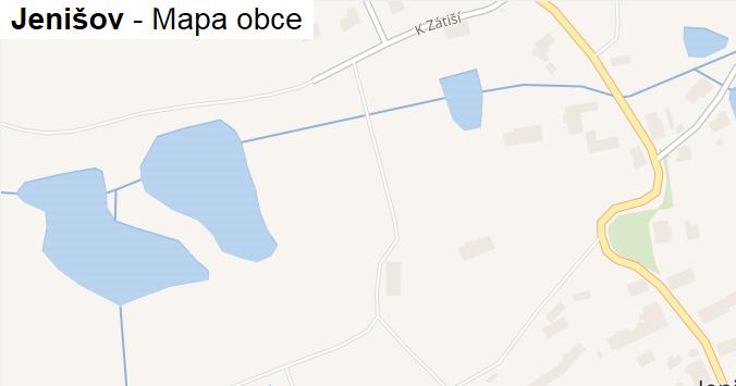Jenišov - mapa obce