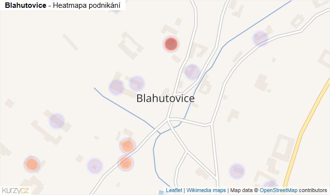 Mapa Blahutovice - Firmy v části obce.