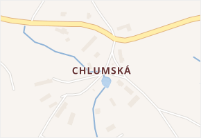 Chlumská v obci Ježovy - mapa části obce