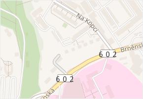 Brněnská v obci Jihlava - mapa ulice