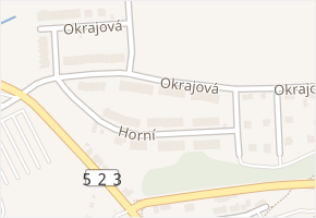 Okrajová v obci Jihlava - mapa ulice