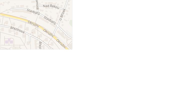 Stavbařů v obci Jihlava - mapa ulice