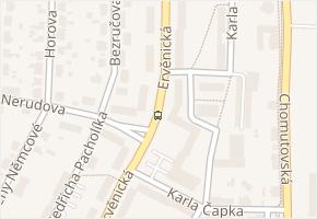 Ervěnická v obci Jirkov - mapa ulice