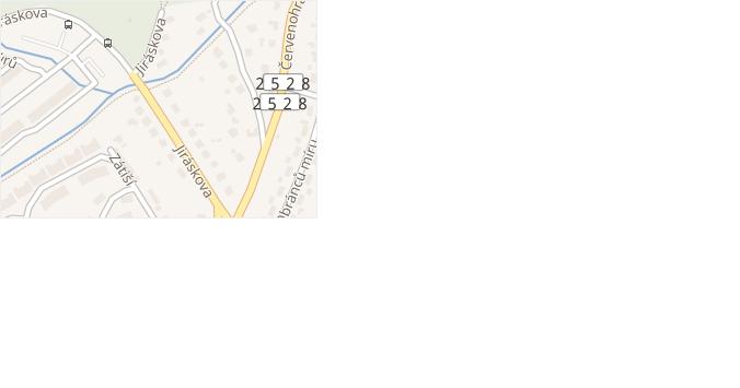 Jiráskova v obci Jirkov - mapa ulice