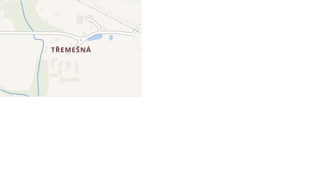 Třemešná v obci Jistebnice - mapa části obce