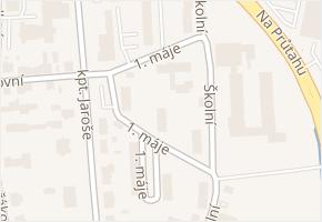 1. máje v obci Kadaň - mapa ulice