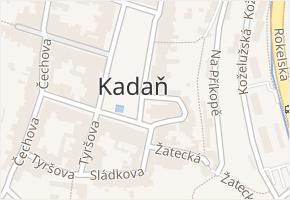 Kadaň v obci Kadaň - mapa části obce