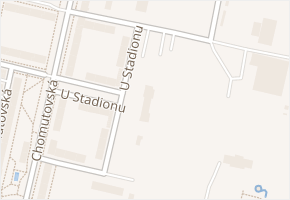 U Stadionu v obci Kadaň - mapa ulice