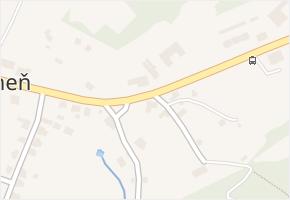 Prácheň v obci Kamenický Šenov - mapa části obce