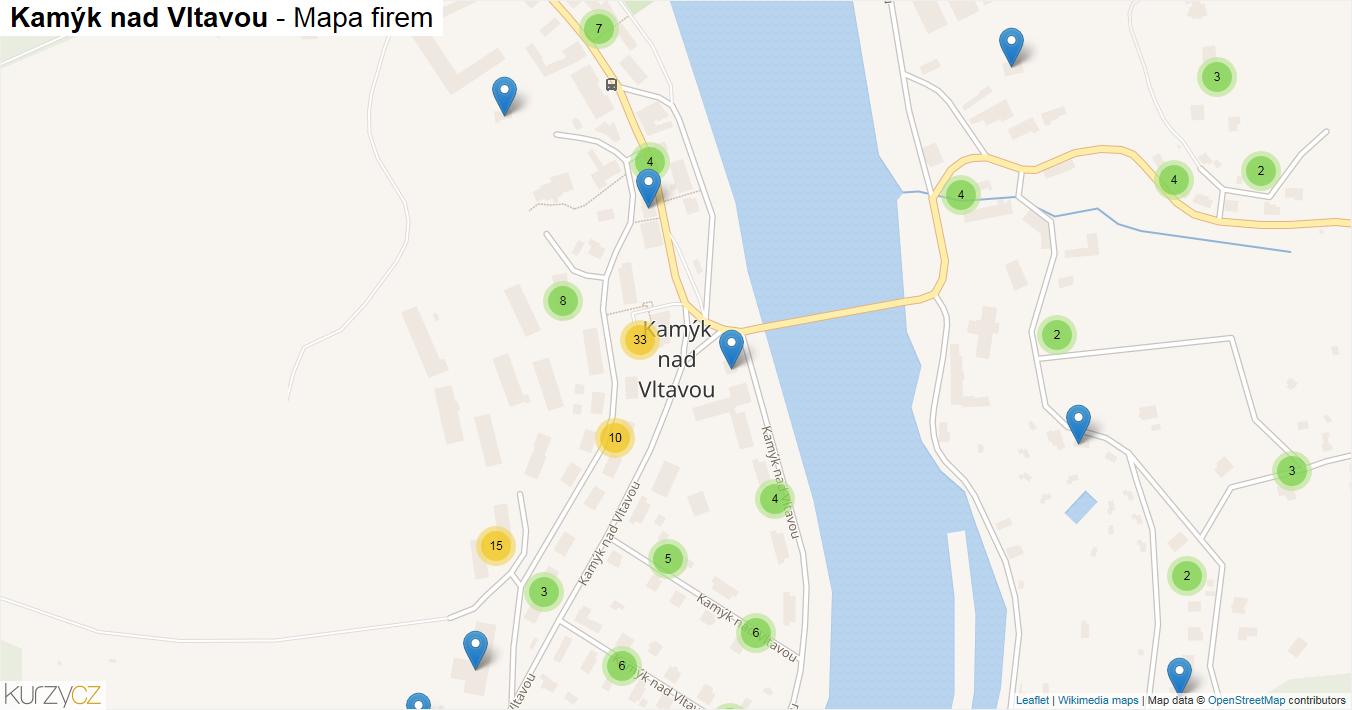 Kamýk nad Vltavou - mapa firem