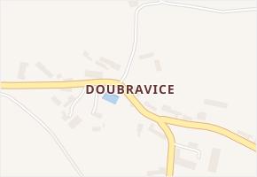 Doubravice v obci Katusice - mapa části obce