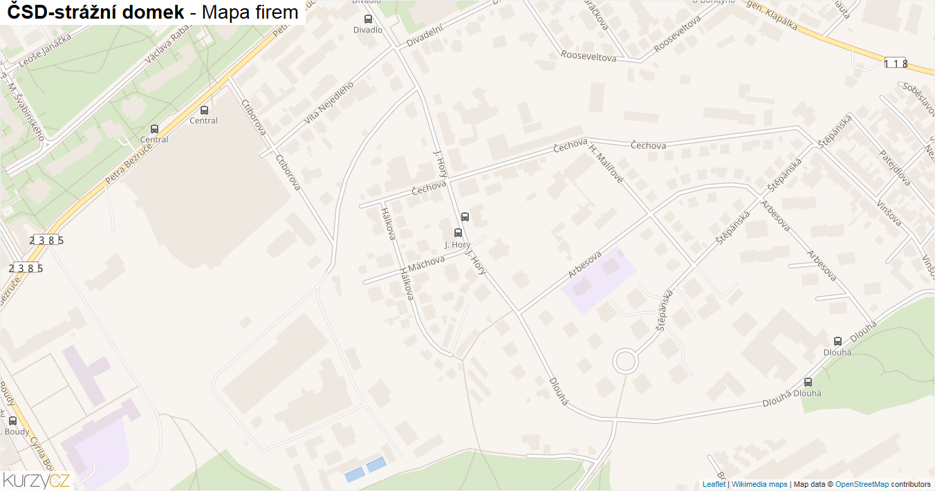 ČSD-strážní domek - mapa firem