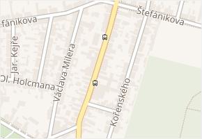 Doberská v obci Kladno - mapa ulice