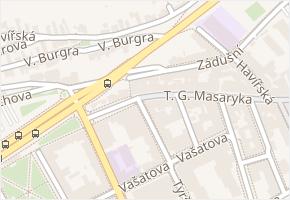 T. G. Masaryka v obci Kladno - mapa ulice