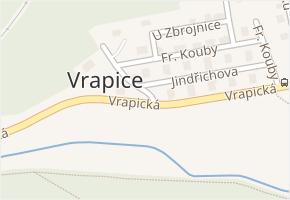 Vrapice v obci Kladno - mapa části obce