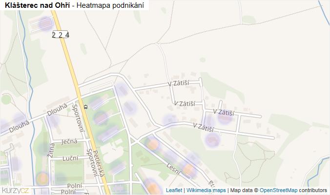 Mapa Klášterec nad Ohří - Firmy v obci.
