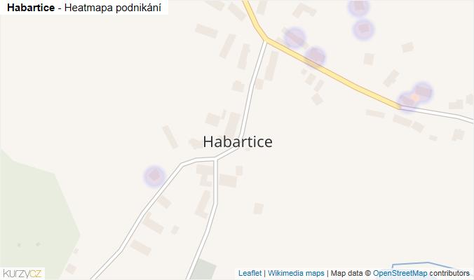 Mapa Habartice - Firmy v části obce.