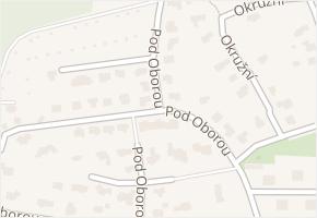 Pod Oborou v obci Kosmonosy - mapa ulice