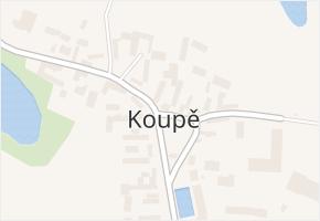 Koupě v obci Koupě - mapa části obce