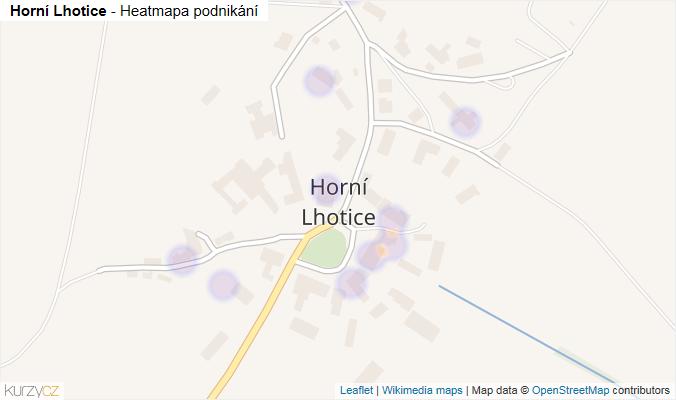 Mapa Horní Lhotice - Firmy v části obce.