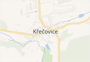Křečovice v obci Křečovice - mapa části obce