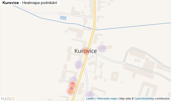 Mapa Kurovice - Firmy v části obce.