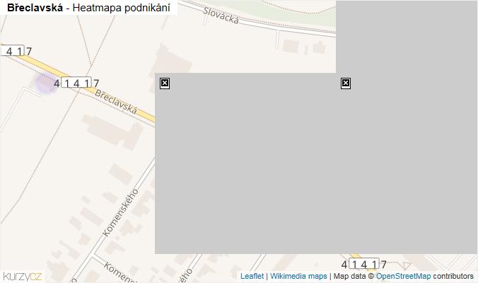 Mapa Břeclavská - Firmy v ulici.