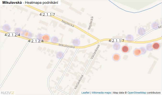 Mapa Mikulovská - Firmy v ulici.