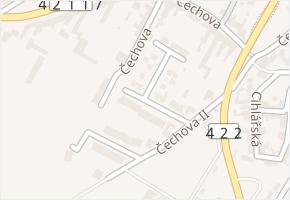 Na Zahradách v obci Lednice - mapa ulice