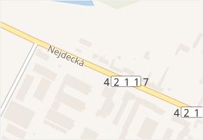 Nejdecká v obci Lednice - mapa ulice