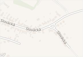 Slovácká v obci Lednice - mapa ulice