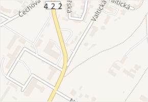 Valtická v obci Lednice - mapa ulice