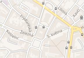 Liberec (nečleněné město) v obci Liberec - mapa městské části