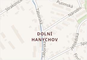 Liberec VIII-Dolní Hanychov v obci Liberec - mapa části obce