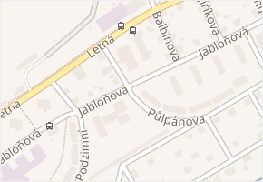 Liberec XII-Staré Pavlovice v obci Liberec - mapa části obce