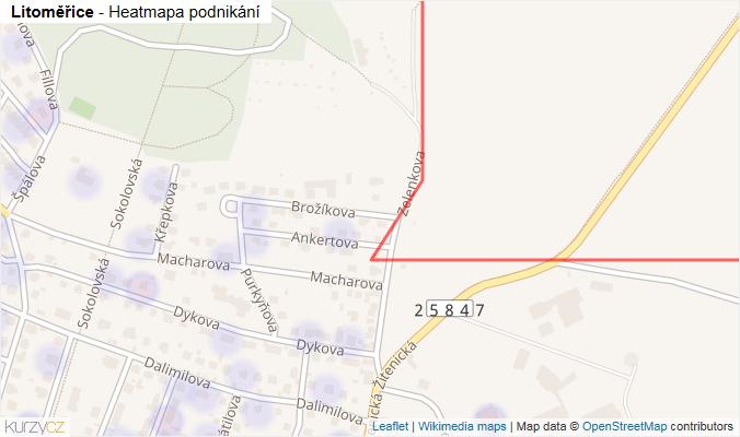 Mapa Litoměřice - Firmy v obci.