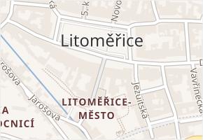Litoměřice-Město v obci Litoměřice - mapa části obce